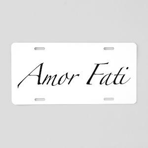Amor Fati Aluminum License Plate
