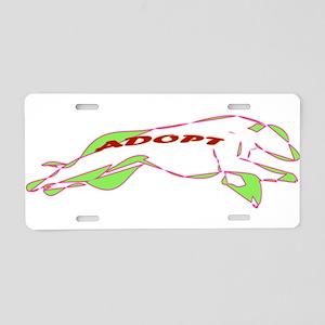 Adopt a Greyhound - Retro Aluminum License Plate