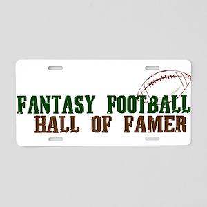 Fantasy Football HOF Aluminum License Plate