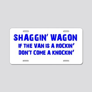 Shaggin Wagon Van Rockin Current Aluminum License