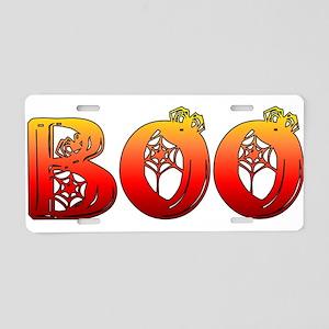Boo Halloween T-Shirt Aluminum License Plate
