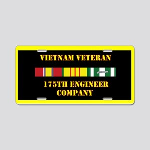 175th Engineer Company Aluminum License Plate