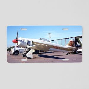 Plane 3 Aluminum License Plate