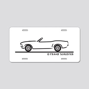 69 Mustang Convertible Aluminum License Plate