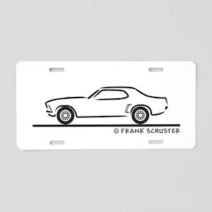 69 Mustang Hardtop Aluminum License Plate