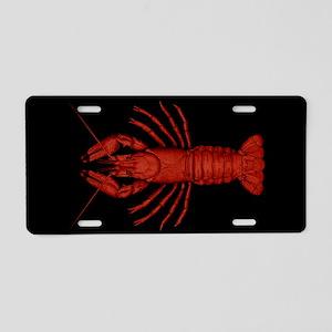 Crawfish Aluminum License Plate
