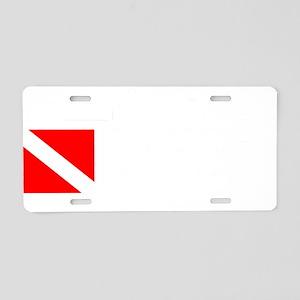 Rescue Diver 3 (white) Aluminum License Plate