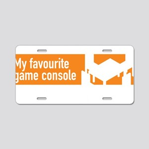 My Favourite Game Console - Aluminum License Plate