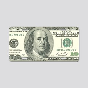 US 100 Bill Aluminum License Plate