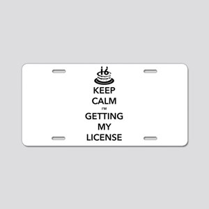 Keep Calm Sweet 16 Aluminum License Plate