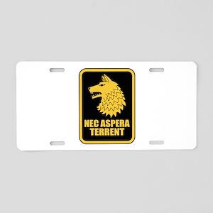 27th Inf Regt L Aluminum License Plate