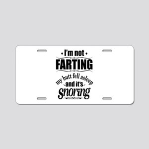 Fart Snoring Aluminum License Plate
