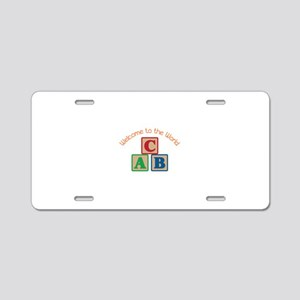 Welcome To World Aluminum License Plate