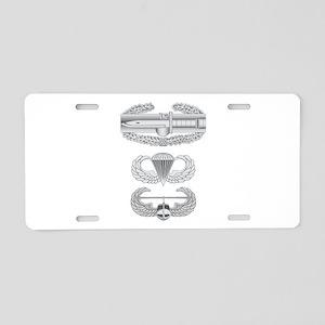 CAB Airborne Air Assault Aluminum License Plate