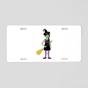 Magic Witch Aluminum License Plate