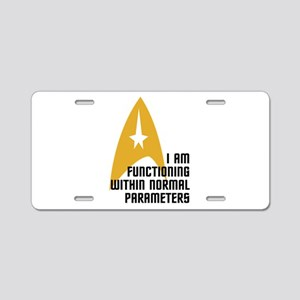 Star Trek - Normal Paramete Aluminum License Plate