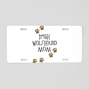 Irish Wolfhound Mom Aluminum License Plate
