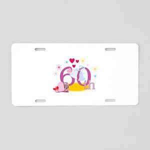 60th Celebration Aluminum License Plate
