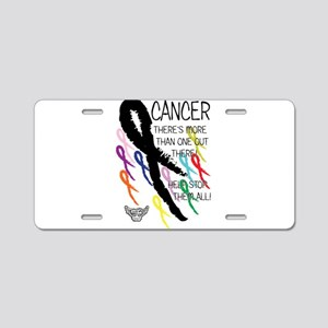 Cancer more than one Aluminum License Plate