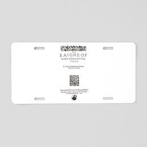 King Edward III Aluminum License Plate