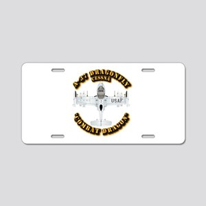 A-37 Dragonfly Aluminum License Plate