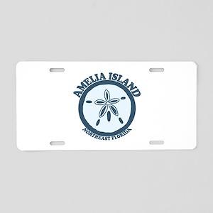 Amelia Island - Sand Dollar Design. Aluminum Licen