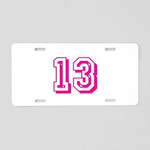 13 Pink Birthday Aluminum License Plate