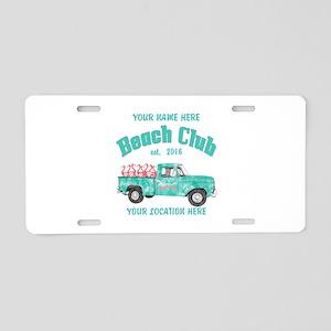 Flamingo Beach Club Aluminum License Plate