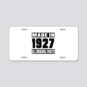 Made In 1927 Aluminum License Plate