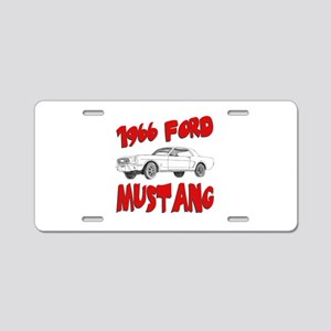 1966 Ford Mustang Aluminum License Plate