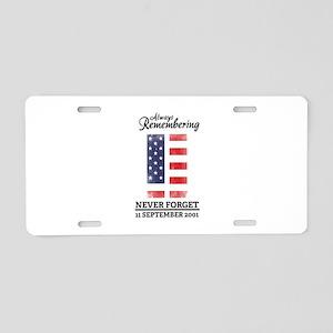 9 11 Remembering Aluminum License Plate