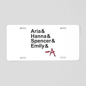 Aria & Hanna & Spencer & Emily & A Aluminum Licens