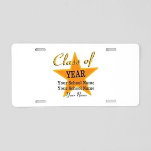 Custom Graduation Aluminum License Plate
