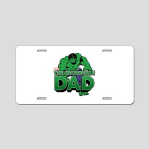 The Incredible Dad Aluminum License Plate