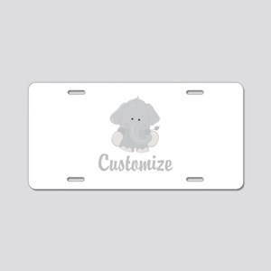 Baby Elephant Aluminum License Plate