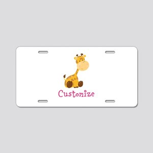Custom Baby Giraffe Aluminum License Plate