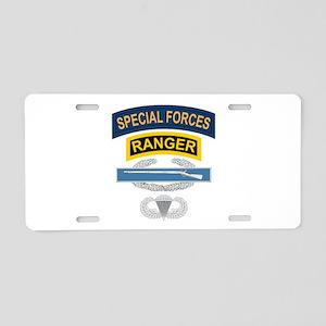 SF Ranger CIB Airborne Aluminum License Plate