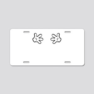 Mickey hands Aluminum License Plate