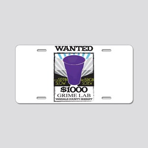 Wanted Aluminum License Plate