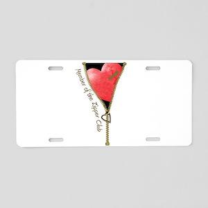 Zipper Design 2 Aluminum License Plate