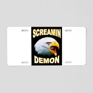 SCREAMIN DEMON Aluminum License Plate