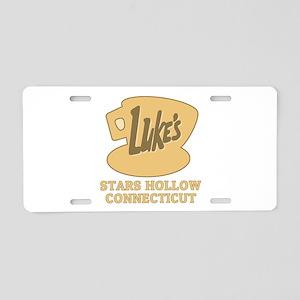 Lukes Diner Aluminum License Plate