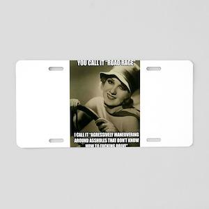 Aggressive Maneuver Aluminum License Plate