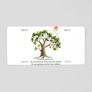 Kenyan Nature Proverb Aluminum License Plate