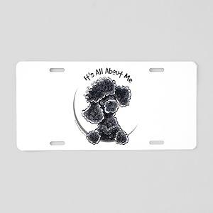 Black Poodle Lover Aluminum License Plate