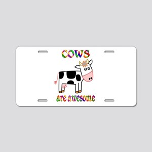 Awesome Cows Aluminum License Plate