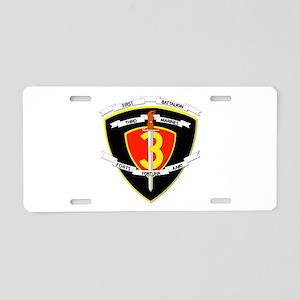 SSI - 1st Battalion - 3rd Marines Aluminum License