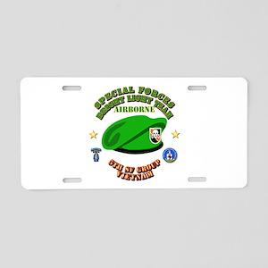 SOF - Bright Light Team Beret Aluminum License Pla