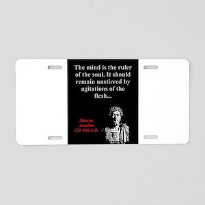 The Mind Is The Ruler - Marcus Aurelius Aluminum L