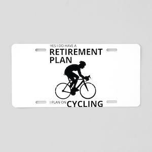 Cyclist Retirement Plan Aluminum License Plate